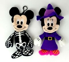 Disney Mickey and Minnie Mouse Plush Halloween Costume Treat Bags with B... - $24.99