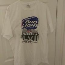 2014 Super Bowl XLIX NFL Game Men's Sz XL White Tee Bud Light - $12.85