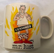 Mr. Lust Coffee Mug Jim Benton Novelty Comical Cup 1986 Vintage pants do... - $14.95