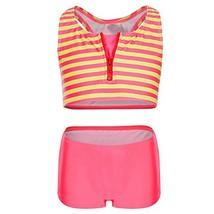 DAYU Little Girls Summer Two Piece Boyshort Fashion Stripes Tankini Swim... - $15.09