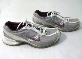 NIKE AIR ALATE Women's Silver Purple Running Fitness Shoes (Size 10) Sne... - $16.95
