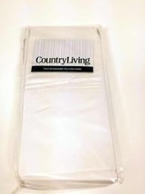 Country Living Linen Pillow Cases set of 2 Antique White Brand New Sealed - $14.84