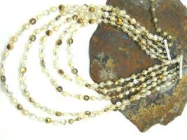 Vtg 5 Strand Crystal Aspirin Necklace Silver 1950's Rockabilly Must Love... - $28.45