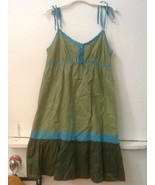 American Eagle Outfitters Womens Dress Size 8 Green Blue Spaghetti Strap... - $14.95
