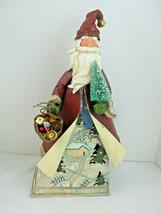 "Kirkland 18"" tall Metal Tin Santa Claus Tea Light Votive Candle Holder H... - $24.70"
