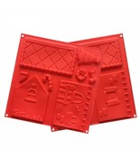 2 pcs/set Christmas Silicone Cake Mould 3D Xmas House Chocolate Biscuit ... - $21.89