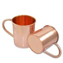 COPPER MOSCOW MULE MUGS PLAIN SET OF 2 TEA COFFEE BEER WINE JUICE MUG - ₹1,754.72 INR
