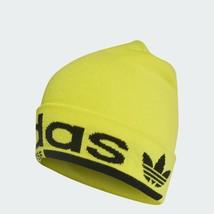 Adidas Originals Kaval Beanie Athletic Cap Running Winter Hat Yellow DM1688 - $31.99