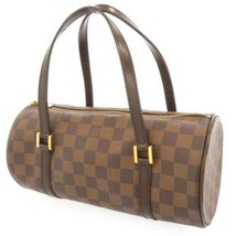 LOUIS VUITTON Papillon 25 Damier Canvas Ebene N51304 LV Bag Handbag France  - $604.75