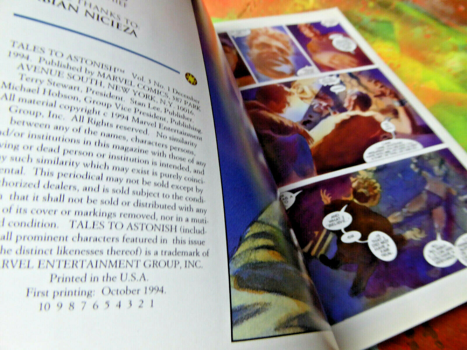 Tales To Astonish Hulk Wasp Hank Pym Comic Book December 1994 Marvel Comics