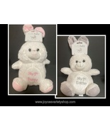 """Kelly Baby Easter 12"""" Plush Rattle Bunny Rabbit Color Choice Gray or Pink - $9.99"""