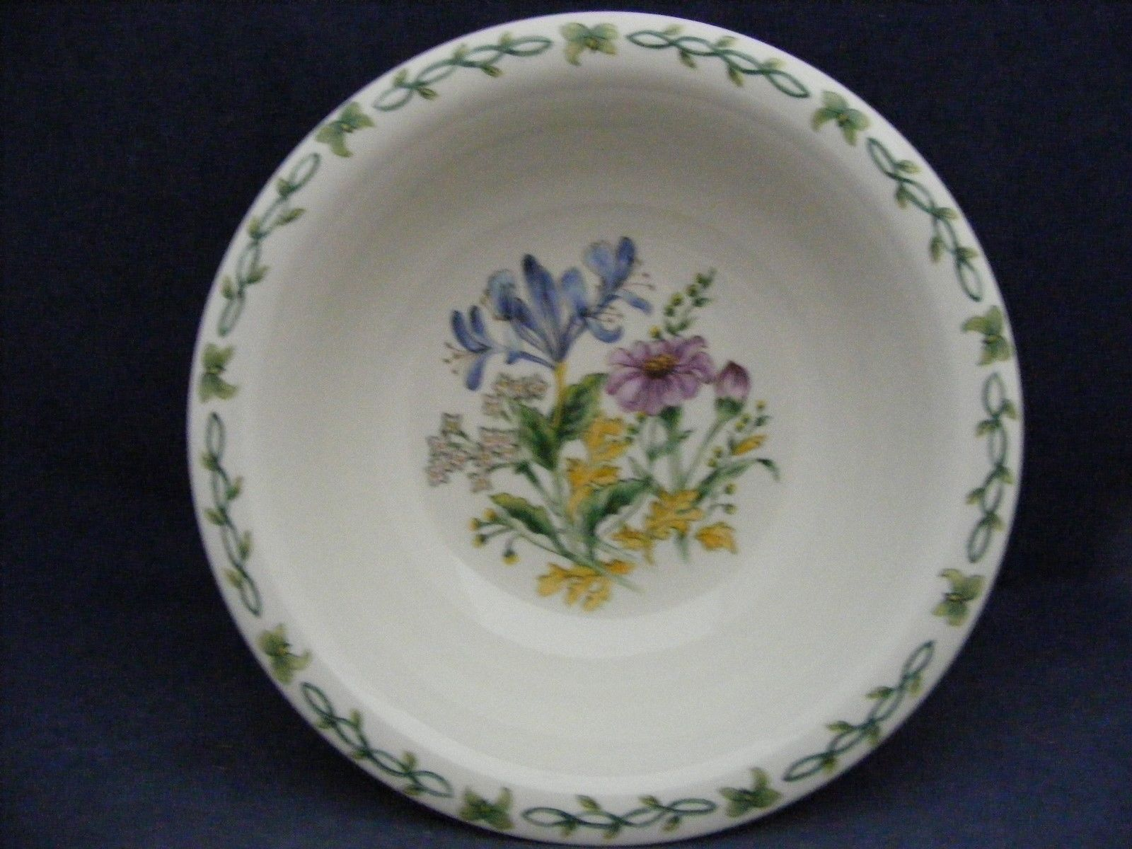 "Thomson Floral Garden 7"" Soup Bowl Blue Irus Flowers"
