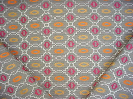11-1/2Y OSBORNE & LITTLE GEOMETRIC LATTICE DRAPERY UPHOLSTERY FABRIC - $273.24