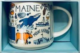 Starbucks Been There Series Collection Maine Coffee Mug New With Box - $23.55