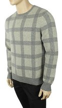 New Mens Tommy Hilfiger Crew Neck Plaid Lambs Wool Blend Pullover Sweater L $129 - $45.99
