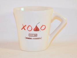 Hershey's Hugs & Kisses Hot-Chocolate Oval Coffee Mug Cup XOXO - $11.88
