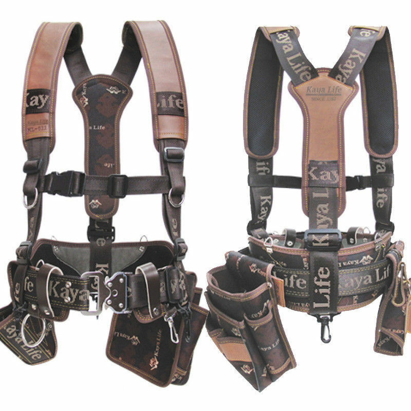 Original KAYA LIFE KL-600 Work Tool Belt Suspenders Drill Pouch Holder