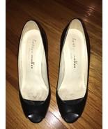 Bettye Muller Italian Black Calf Leather Peep Toe Platform Pump 37 Retai... - $29.99
