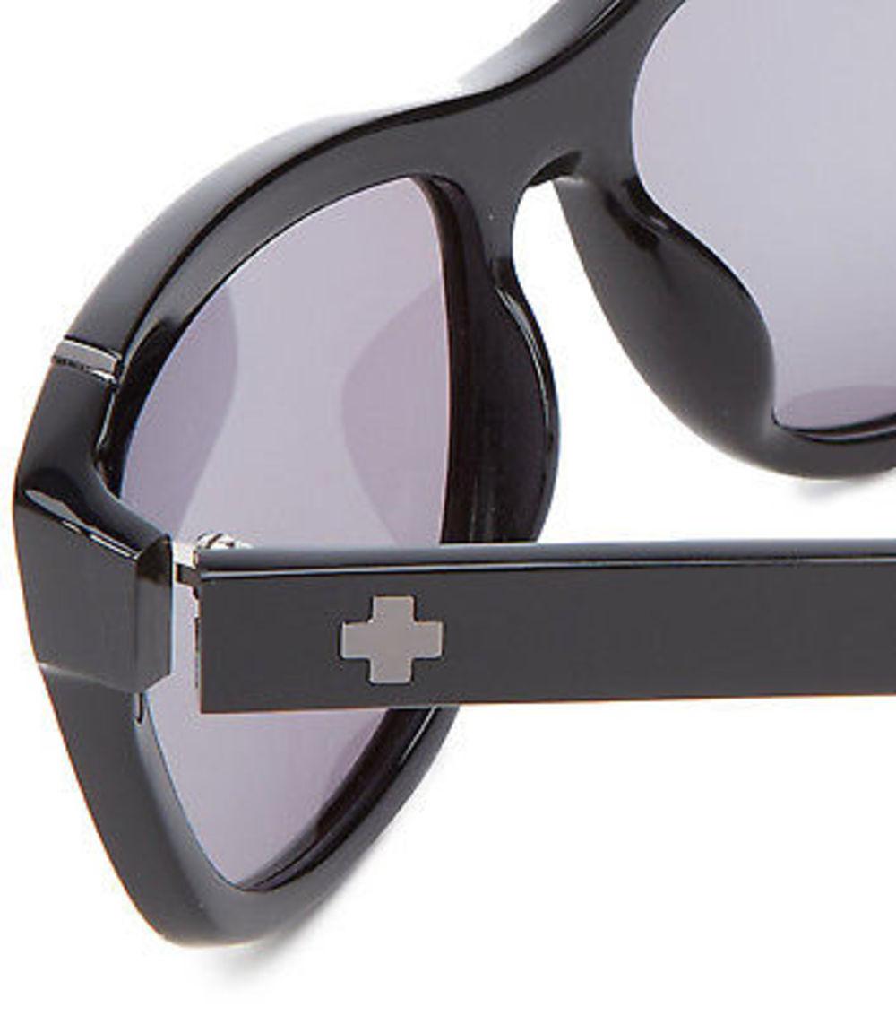 36d0ae39b5 Spy Optic Murena Women s Sunglasses Shiny Gloss Black Frame Grey Green Lens