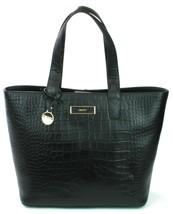 DKNY Donna Karan Black Leather Croc Embossed Shoulder Hand Bag Medium RRP £375 - $299.36