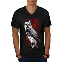 Dream Catcher Owl Animal Shirt Bird Of Prey Men V-Neck T-shirt - $12.99+