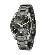 Sector Chronograph Gunmetal Black Dial Analog Sport Men`s Watch New With... - $277.35
