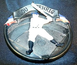 Hallmark Handcrafted Ornaments Baseball Heroes Satchel Paige and Lou Gehrig AA-1 image 2
