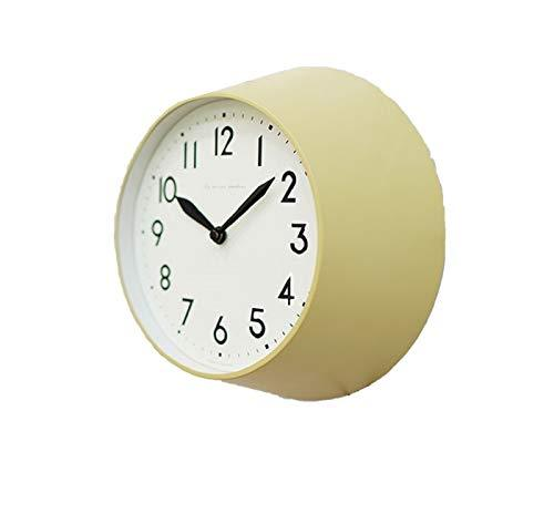 Mooas Modern Retro Metal Round Wall Clock Non Ticking Silent Quartz Decorative M