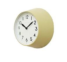 Mooas Modern Retro Metal Round Wall Clock Non Ticking Silent Quartz Decorative M