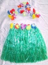 2 KIDS SIZE HAWAIIAN HULA ASST SKIRT PARTY SET new childrens luau bracel... - $9.49