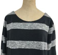 J. Crew Factory Dress Black Gray Stripe Boatneck 3/4 Sleeves Style 02665 Sz L U1 image 2