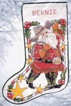 Candamar Cowboy Santa Sheriff Lasso Christmas Cross Stitch Stocking Kit 50822 E - $168.95