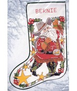 Candamar Cowboy Santa Sheriff Lasso Christmas Cross Stitch Stocking Kit ... - $168.95