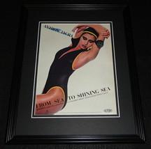 1985 Jantzen Lycra Dupont Swimsuits Framed 11x14 ORIGINAL Advertisement - $32.36