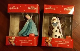 Hallmark Disney Frozen Elsa and Olaf Christmas Ornaments NEW in Boxes Se... - $14.01