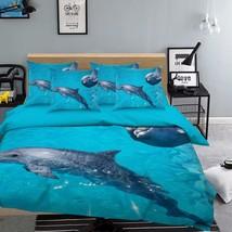 3D Dolphins 295 Bed Pillowcases Quilt Duvet Cover Set Single Queen King Size AU - $64.32+