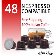 Nespresso Compatible Capsules 48 Arabica Top Quality Pods 100% Italian C... - $26.00