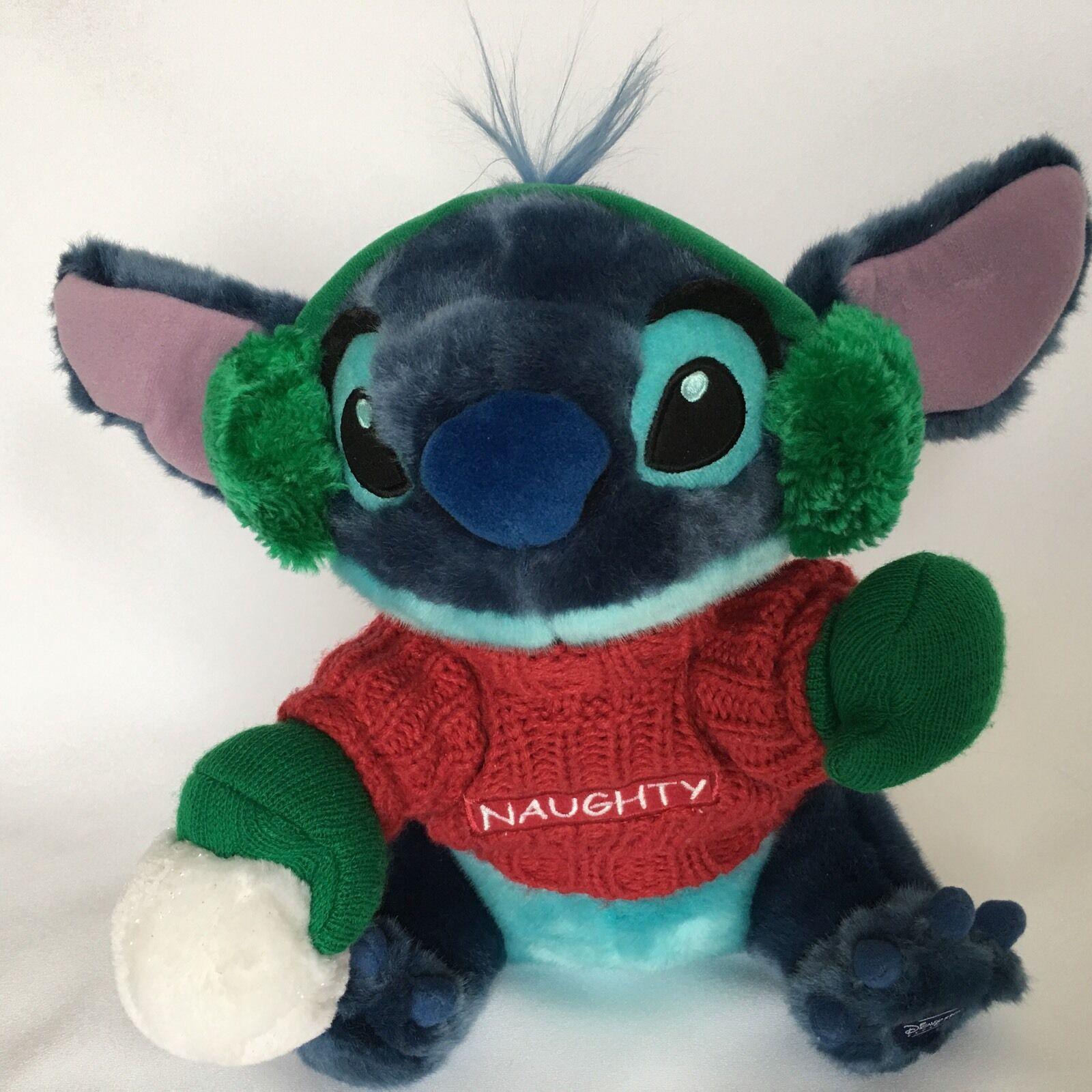 Disney Stitch From Lilo and Stitch Plush Blue Naughty Christmas Stuffed Animal