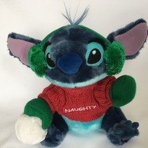 Disney Stitch From Lilo and Stitch Plush Blue Naughty Christmas Stuffed ... - $14.80