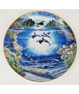 Danbury Mint Sunlit Glow Underwater Paradise Plate 1991 Robert Lyn Nelson - $12.16