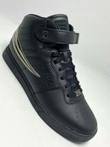 Men's Fila Vulc 13 Mid Plus Black | Silver Fashion Sneakers  - $69.00