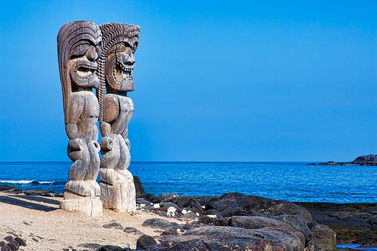 Tikis in Paradise, Fine Art Photos, Paper, Metal, Canvas Prints