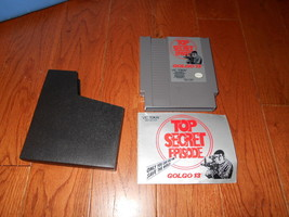 Golgo 13: Top Secret Episode (Nintendo NES, 1988) Agent video game w/ Ma... - $14.84