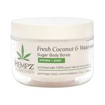 HEMPZ Fresh Coconut and Watermelon Sugar Scrub 7.3 oz