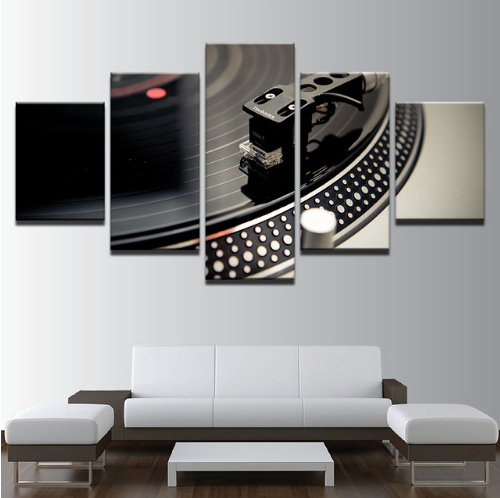 5 Piece DJ Music Instrument Turntables Canvas Print Painting Wall Art Home Décor for sale  USA