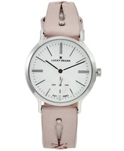 Lucky Brand Women's Ventana Cut Out Leather Strap Watch Blush Pink 34mm NEW $155 - $74.95