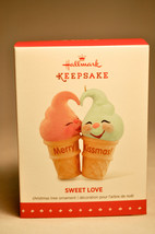 Hallmark: Sweet Love - Kissing Ice Cream Cones - 2015 Keepsake Ornament - $13.32