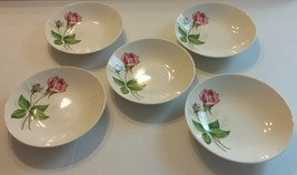 Edwin Knowles Tea Rose Soup Coupe Bowls Set of ... - $10.00