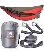 Birmi Portable Double Hammock with Straps Waterproof Sack 500lb New - £24.23 GBP