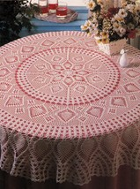 Pineapple Tradition Wagon Wheel Lace Rosettes Tablecloth Doily Crochet Patterns - $9.99